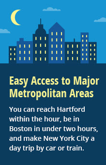 easy access to major metro areas